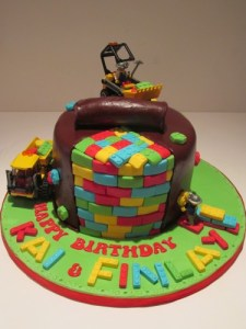 Lego Construction Cake