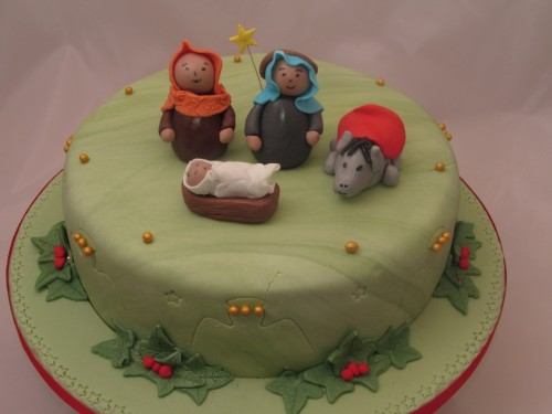 Nativity Christmas Cake