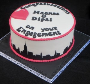 New York Skyline engagement cake