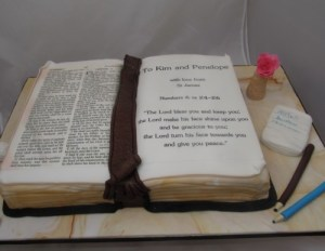 Bible Cake for a Leaving Do