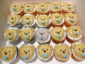 Teddy Bear baby cupcakes
