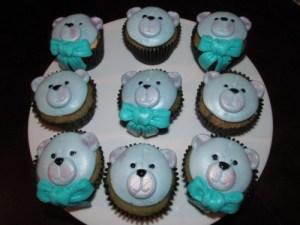 Blue Teddy Bear cupcakes