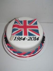 Union Jack Flag Cake