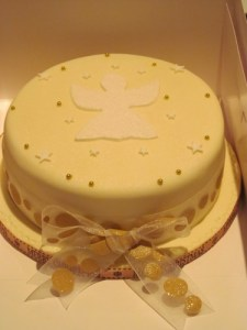 Christmas cake with gold detail
