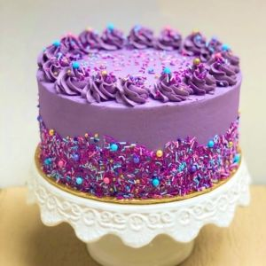 Purple Sprinkles Cake