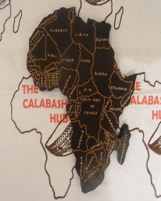 African Wooden Map