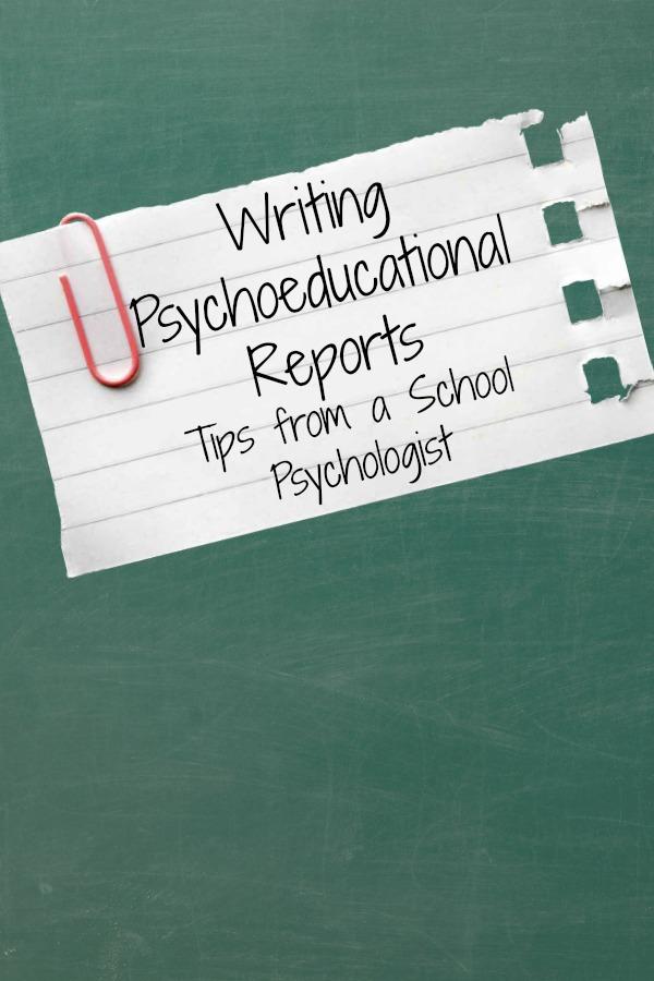 writing psychoeducational reports
