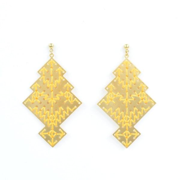 The Camelia bijoux - Boucles d'oreilles Chellah jaune