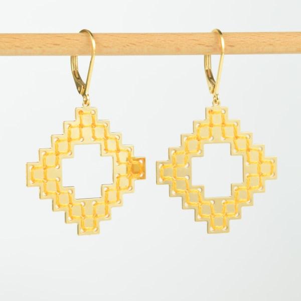 The Camelia bijoux - Boucles d'oreilles Nejjarine jaune