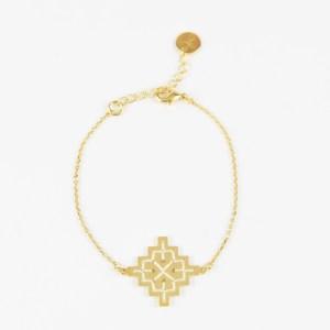 The Camelia bijoux - Bracelet Badi écru