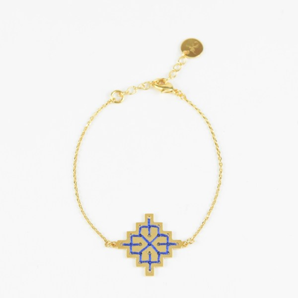The Camelia bijoux - Bracelet Badi bleu majorelle