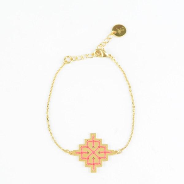 The Camelia bijoux - Bracelet Badi corail