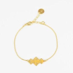 The Camelia bijoux - Bracelet Souika jaune
