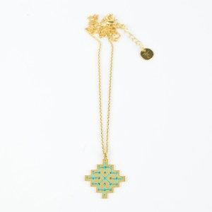 The Camelia bijoux - Collier Badi vert 2