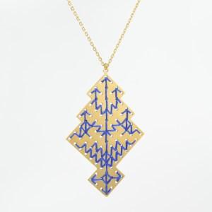The Camelia bijoux - Collier Chellah bleu majorelle 1