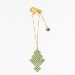 The Camelia bijoux - Collier Chellah vert 2