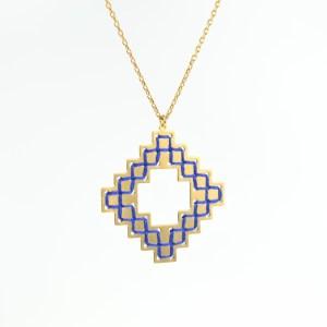 The Camelia bijoux - Collier Nejjarine bleu majorelle 1