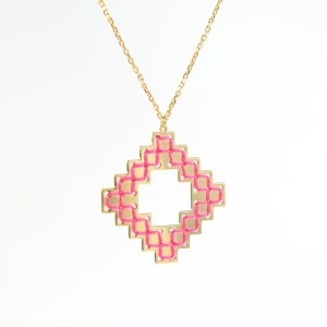 The Camelia bijoux - Collier Nejjarine rose 1