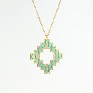 The Camelia bijoux - Collier Nejjarine vert 1