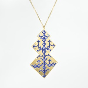 The Camelia bijoux - Collier Oudayas bleu majorelle 1