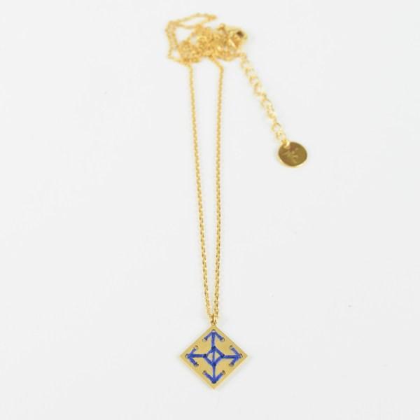 The Camelia bijoux - Collier Socco bleu majorelle 2