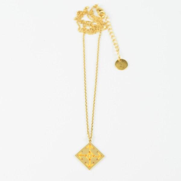 The Camelia bijoux - Collier Socco jaune 2