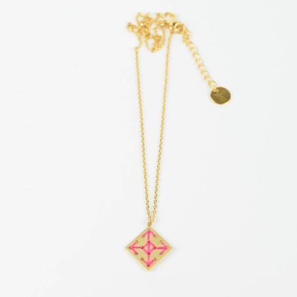 The Camelia bijoux - Collier Socco rose 2.