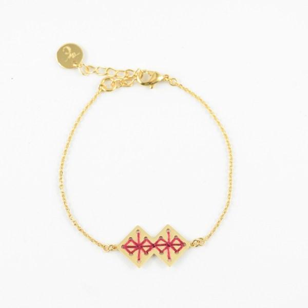 Bracelet Chouara bordeaux