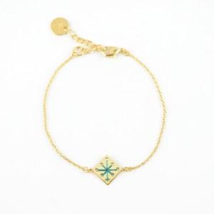 Bracelet Menara bleu canard