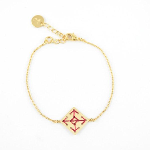 Bracelet Socco bordeaux