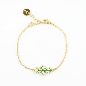 Bracelet Souika vert sapin