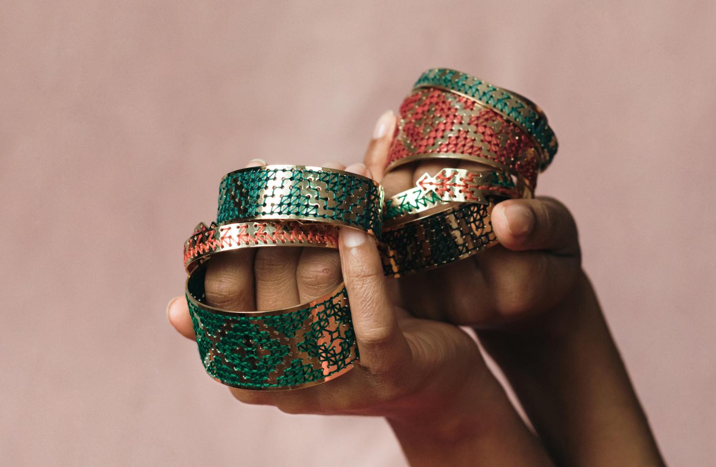 Broderie de Fès sur bijoux