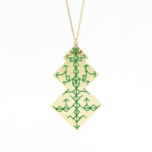 Collier Oudayas vert sapin