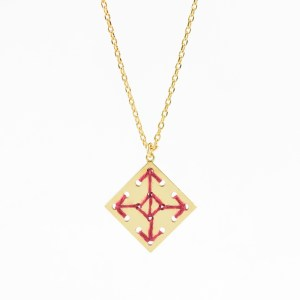 Collier Socco bordeaux