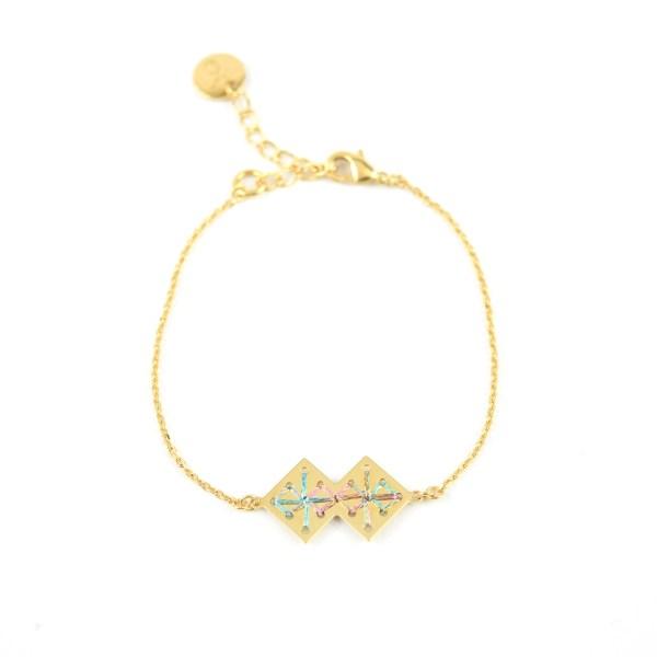 Bracelet Chouara multicolore brillant