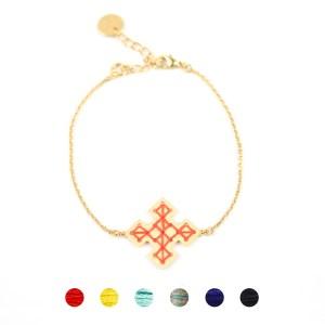 Bracelet Skala orangé 6 couleurs