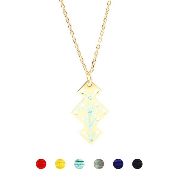 Collier Souika mint 6 couleurs