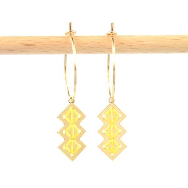 Créoles Mellah jaune
