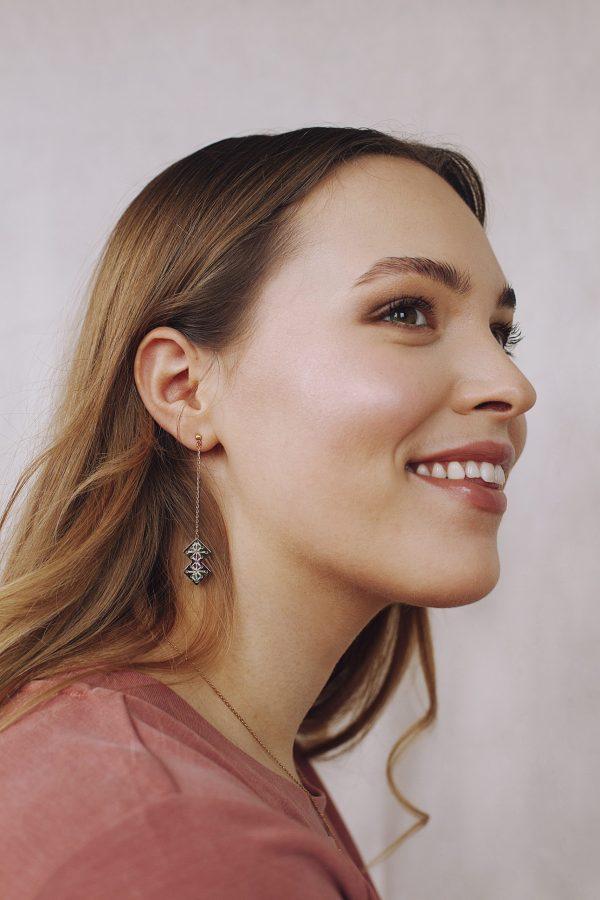 Boucles d'oreilles longues Chouara