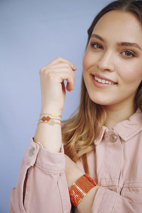 Manchette Fadila et bracelet chouara + mellah + drâa