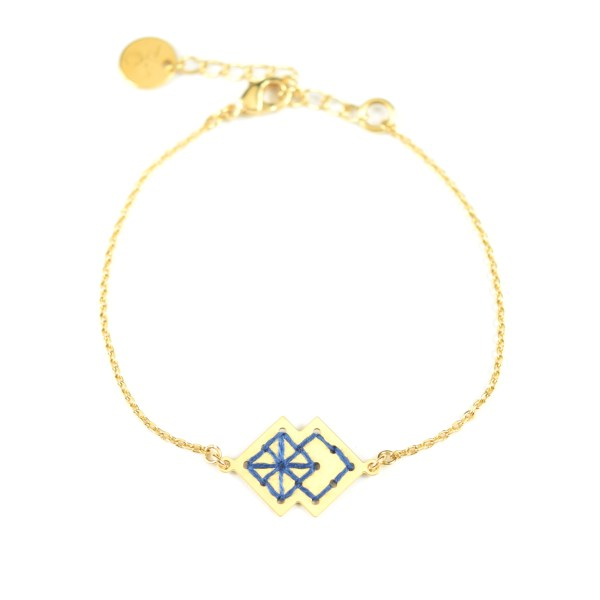 Bracelet Drâa bleu jean