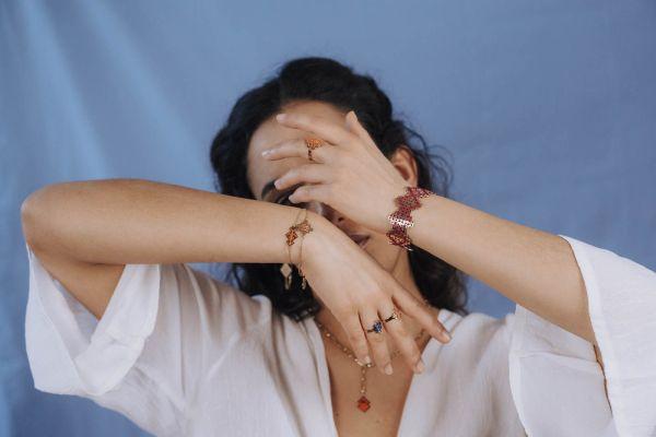 Manchette Chegaga + BO Volubilis + bracelet Souika et Mouassine + manchette chegaga