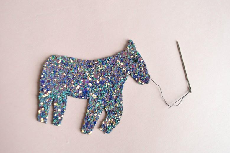 DIY porte-clés licorne pailletes