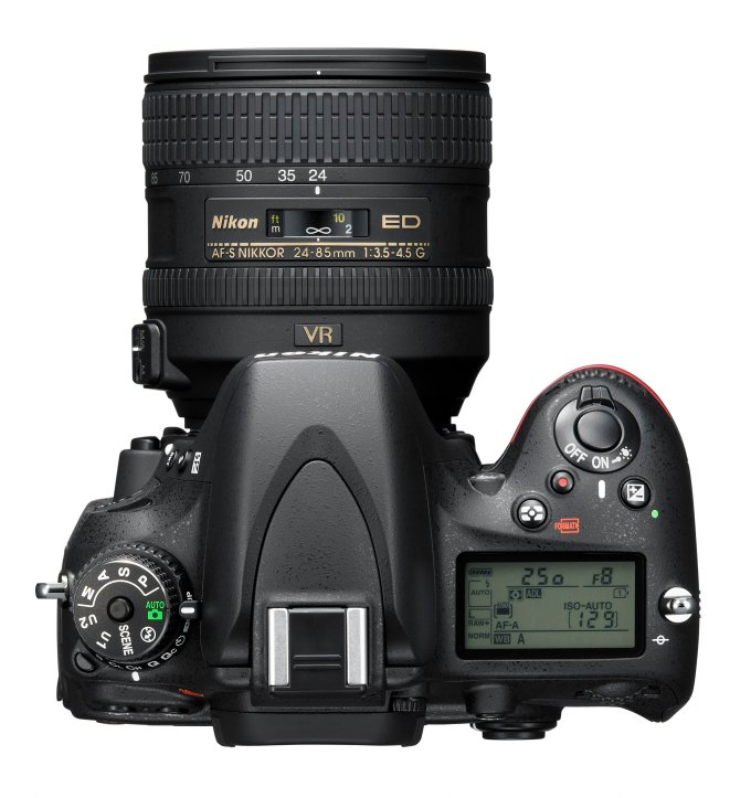 Nikon D610 24MP - Top View