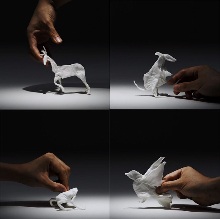 Tissue Paper Stop Motion Animals ©2013 Yuki Ariga