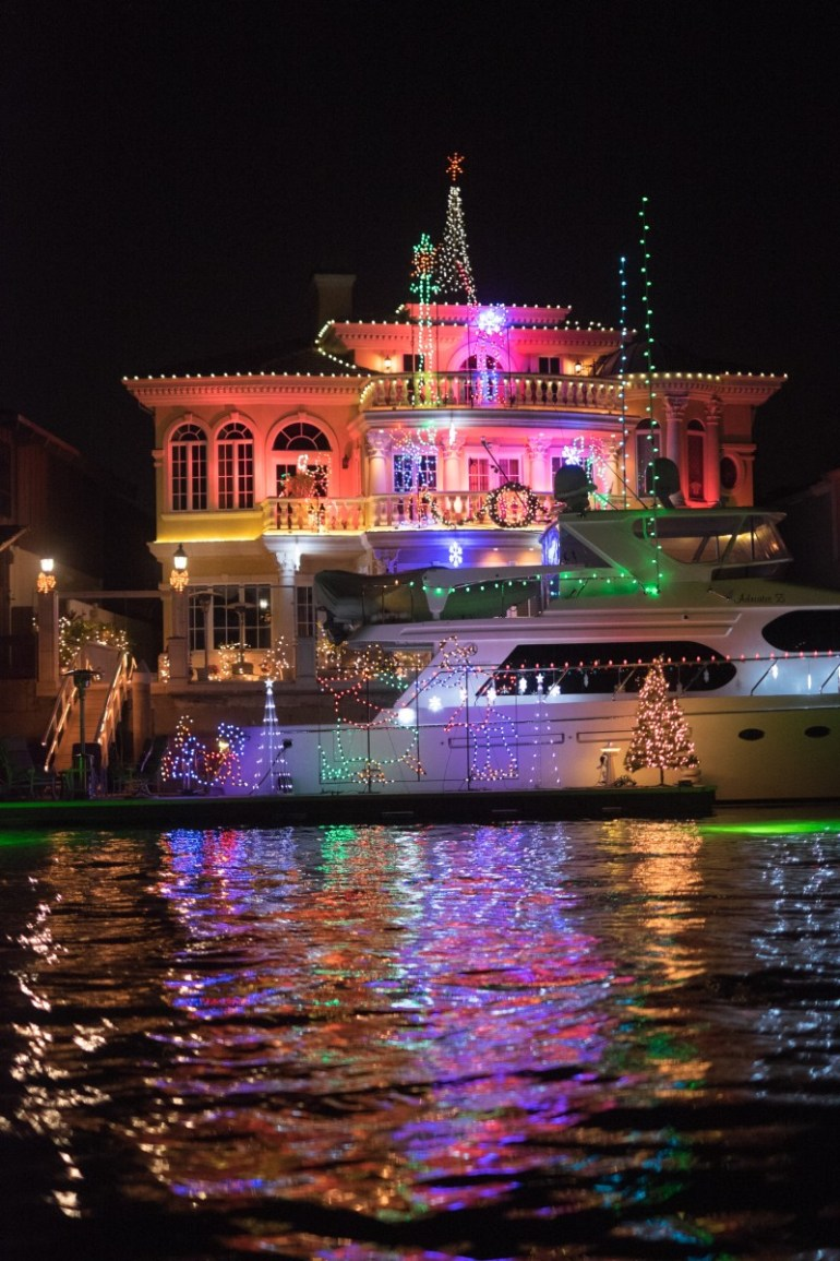 Christmas Lights and Decorations in Huntington Harbour. ©2013 Paul Gero