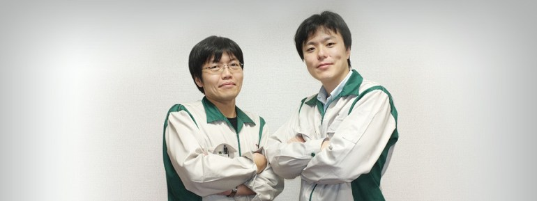 Fujifilm Electronic Image Product Development Center (from left) Digital split image photographic technology development: Tomoyuki Kawai Digital split image signal processing technology development: Katsutoshi Izawa