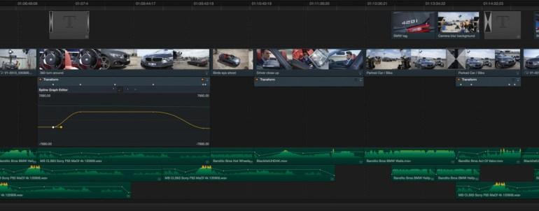 DaVinci Resolve 11 Mixed Format Timeline.