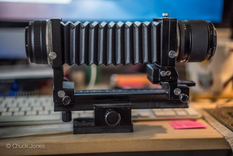The Contax Zeiss 100mm f/4 S-Planar Macro Lens On Bellows
