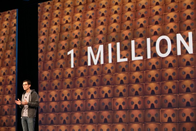 Google I/O Facts: Over 1 million Cardboard units have shipped to users so far,